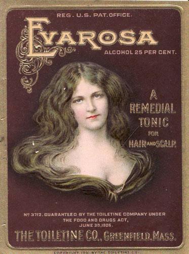 Gilt Label for the Evarosa American Hair Tonic