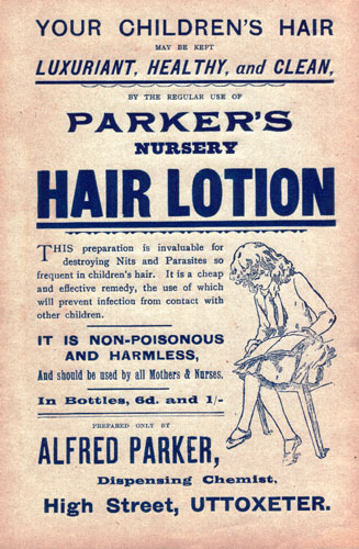 c20th - Retail advertising lotion for children